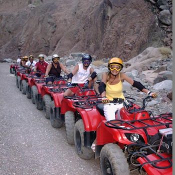 group excursions with quad bikes between mountains in taba heights red sea sinai egypt