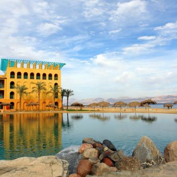 strand beach resort taba heights with sea , lagoon and mountains view